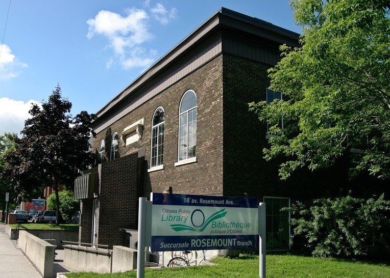 The Rosemount branch of the Ottawa Public Library. Photo courtesy of Barbara Clubb, member of READ.