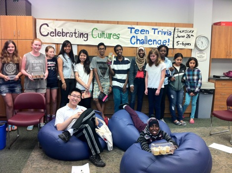 Carlingwood's TAG (Teen Advisory Group) at their 2014 Celbrating Cultures Teen Trivia Challenge. Photo by Courtney Mellor