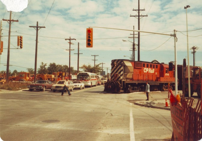 Train crossing at Holland Avenue and Scott Street on September 7, 1979. Photos courtesy of Bruce Chapman