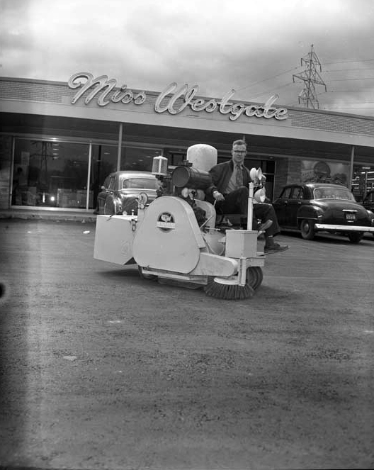 Westgate Shopping Centre had its own parking lot cleaner! Photo courtesy of the City of Ottawa archives (CA032513).