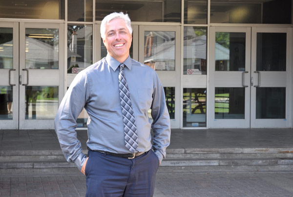 Michael Curry is the new principal at Notre Dame High School. Photo by Andrea Tomkins