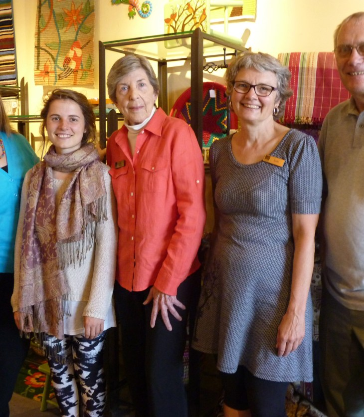Judy Lincoln, Manager, Karmen Walther and Janet Bruce, volunteers, Kathy Neufeld, volunteer assistant manager and John Bell,