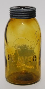 Some Canadian-made fruit jars, such this amber American beaver half-gallon jar, are highly collectable items. You may want to check your grandma's box of canning supplies. Photo submitted by Shaun Markey