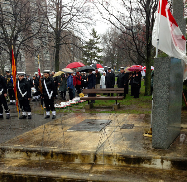 Photo from last year's Battle of the Atlantic wreath-laying ceremony. By Claudine Wilson