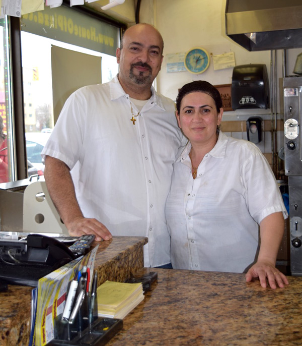 Gabriel Khater and his wife, owners of House of Pizza. Photo by Alyson Queen.