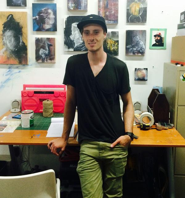 Ryan Smeeton in his studio. Photo by Andrea Stokes