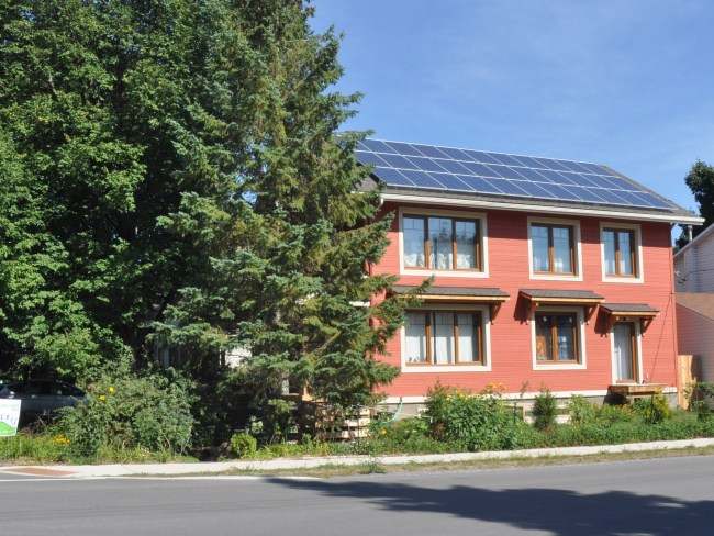 This eco home is not your typical Westboro infill. Photo by Andrea Tomkins