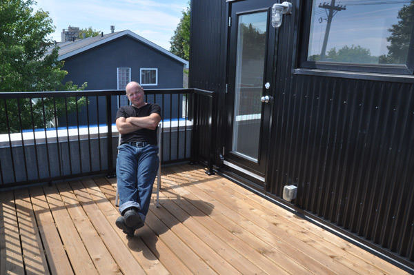 Don LaFlamme is the owner of a modern infill home at 1125 Gladstone Avenue.