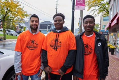 Dogukan, Livan, and Justin volunteered at Wickedly Westboro