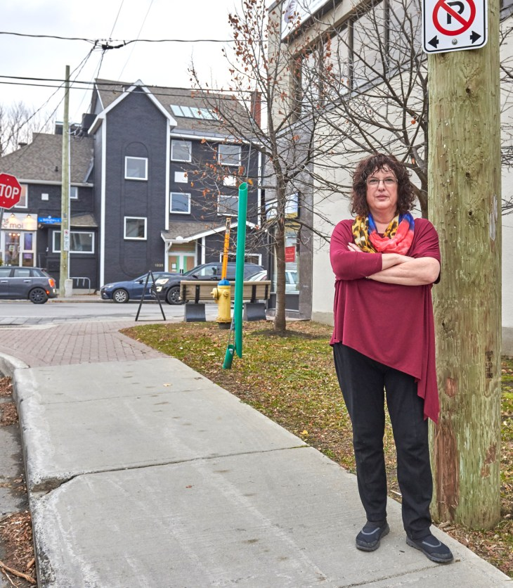 Linda Greenberg, owner of Capital City Luggage, says the City of Ottawa has contributed to the parking problem over the years by removing parking spots. Photo by Ellen Bond