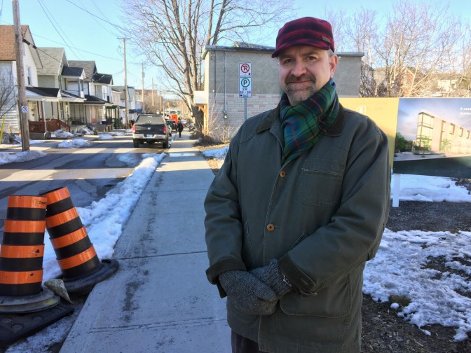 Dickson Davidson lead the campaign to reduce the residential speed limit in Hintonburg. Photo by Andrea Tomkins