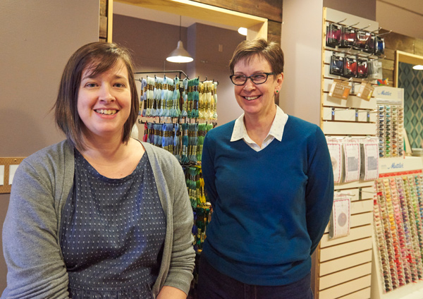 Faustina Konkal and Catherine Fournier are the new owners of Fabrications. Photo by Ellen Bond