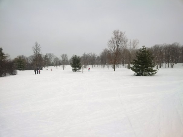 "Bonnie writes: ""In addition to family skis, our kids, ages 13, 11 and 9 spent some afternoons skiing/playing in the Woods and trails around Champlain Park. Can you believe this winter wonderland that's right in our neighbourhood! How lucky are we?"""