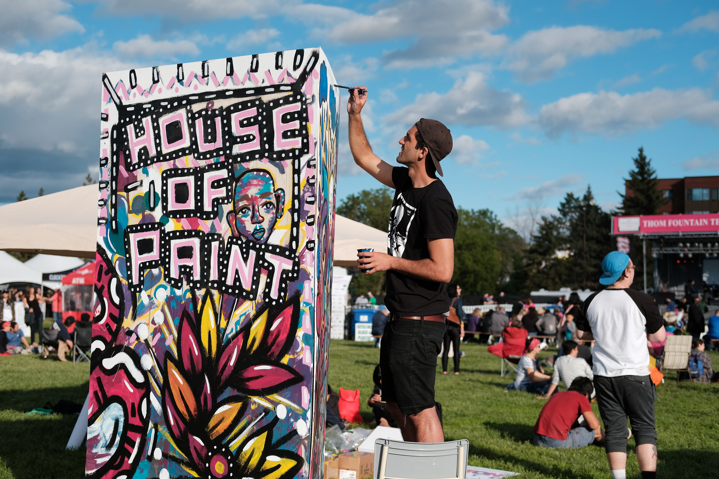 House of Paint's live mural art takes shape Saturday evening