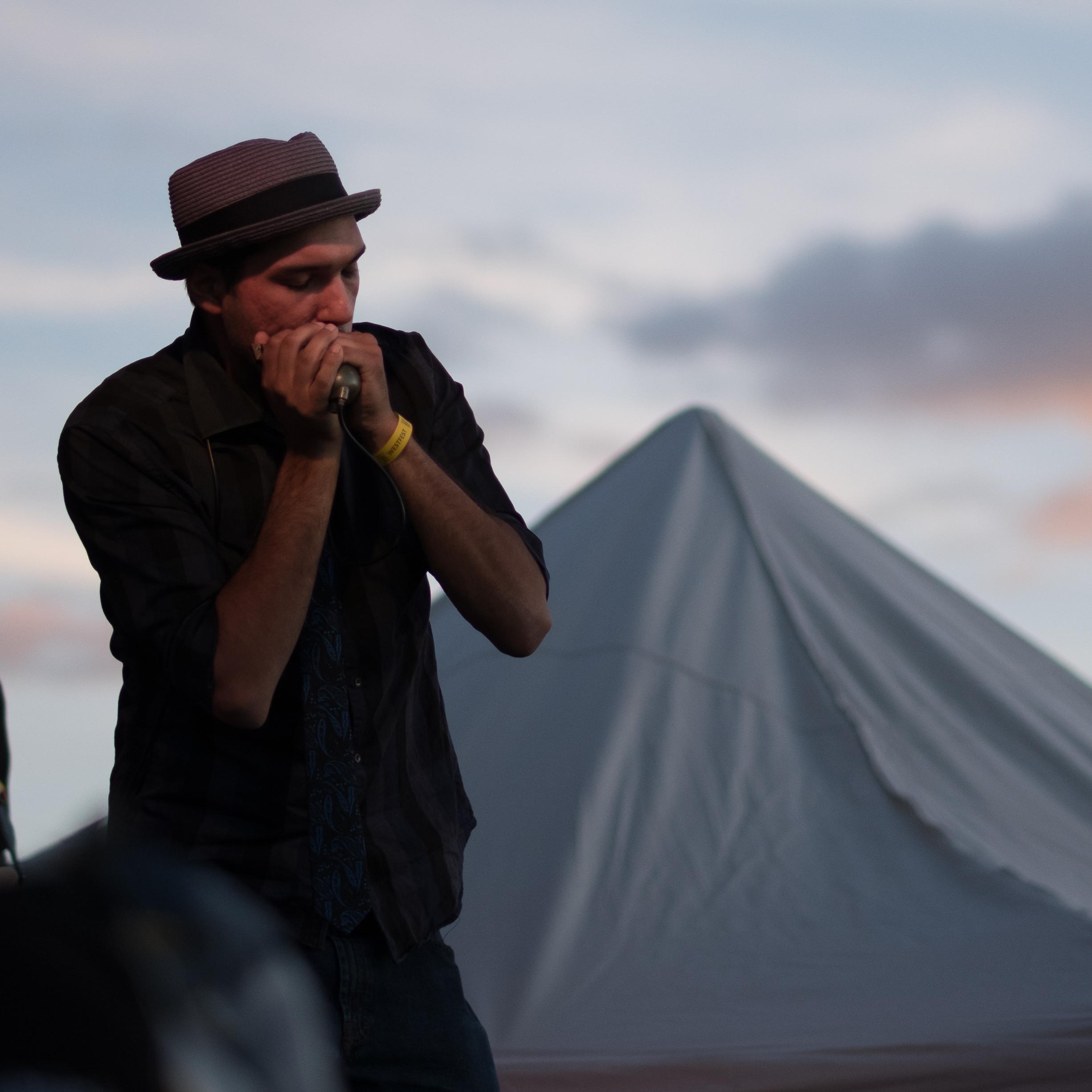 Lyle Odjick on blues harmonica