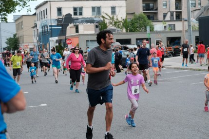 The annual children's 1K Fun Run is a big hit