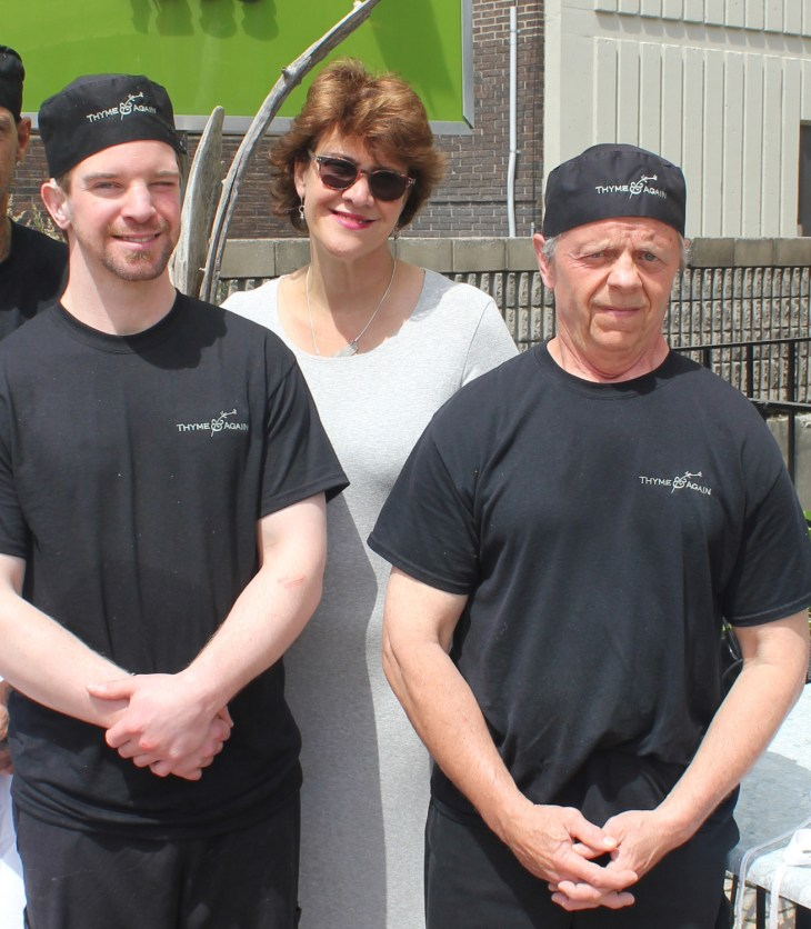 Sheila Whyte with Chris, Ben, and Mark. Photo courtesy of The Ottawa Mission.