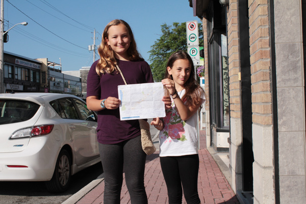 Charlotte and Karina Dobson produced a list and corresponding map to track the tiny food art.