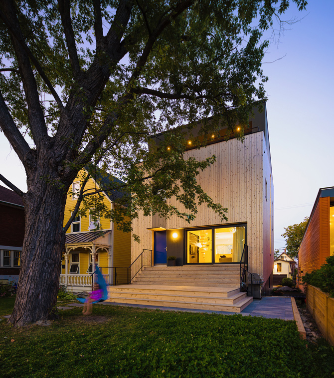 Photo courtesy of Mark Rosen, owner of this Passive House on Bayswater Avenue.