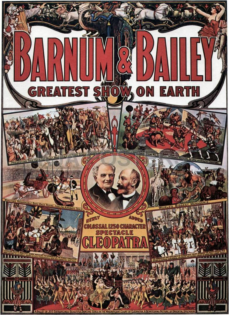 Barnum and Bailey poster, 1912