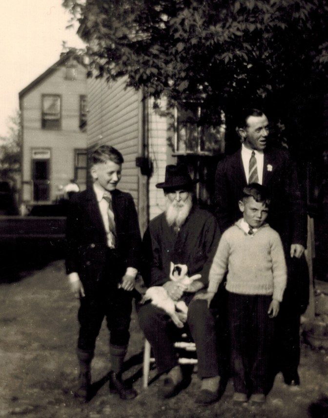 François-Xavier (F.X.) Sauvé (centre) was one of the original residents of Mechanicsville. He's also Dave Allston's great- great- great- grandfather. Photos courtesy of Dave Allston.
