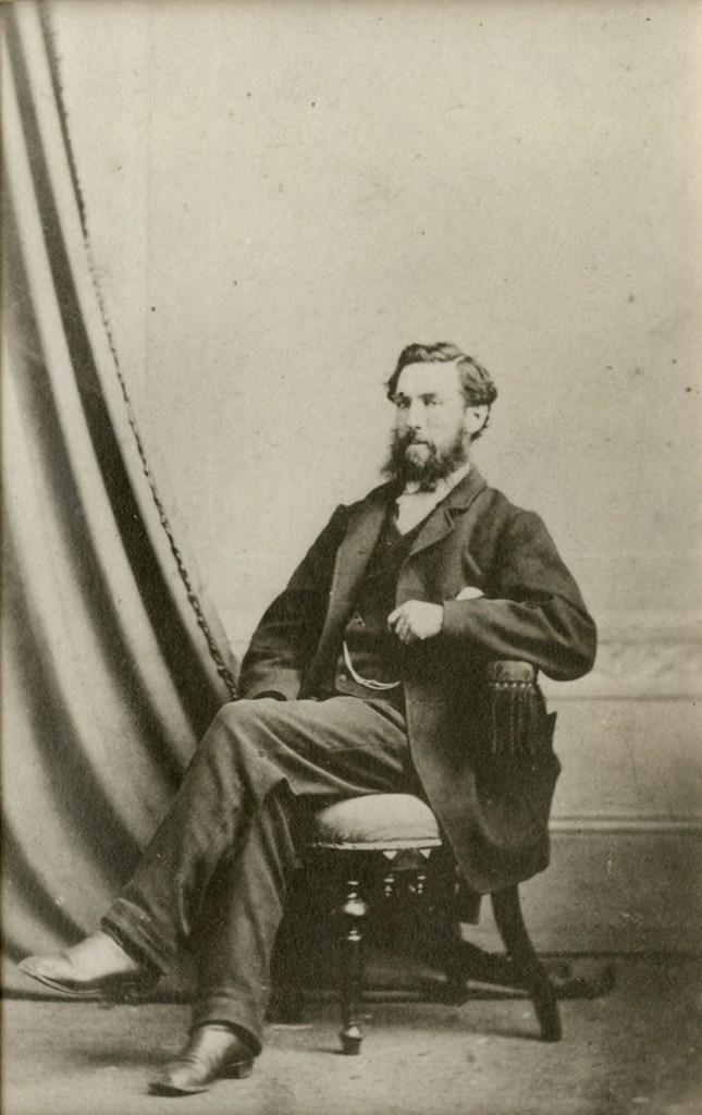 Photo of Robert J. Hinton, circa 1880. Silver gelatin courtesy of the Bytown Museum, P181