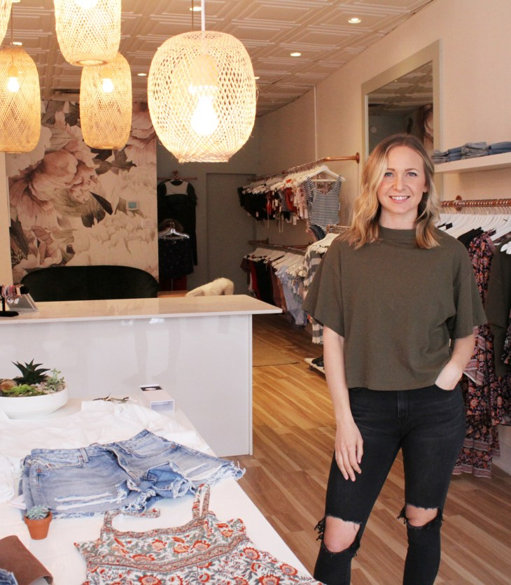 "Tallow co-founder Jasmine Riley says she and the other founders are going for a ""surf-lifestyle, yoga-lifestyle vibe"" with the new swimsuit and clothing store at 1116 Wellington St. W."