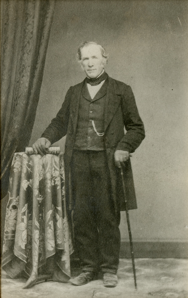Joseph Hinton, circa 1880. Silver gelatin courtesy of the Bytown Museum, P18.