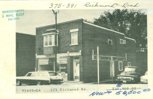 The first site of the legion was this barbershop in Westboro, purchased in 1968.