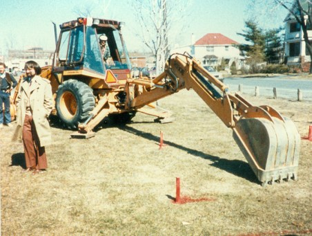 Preparations for the Westboro Cenotaph in 1985