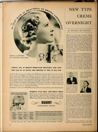 Rosina Lawrence in an advertisement