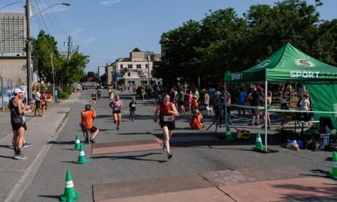 Melanie Ransom at the finish