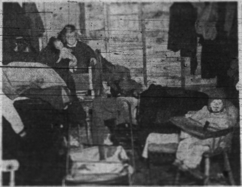 Ottawa Citizen photo of the interior of the Lanoutte home from October 26, 1950.