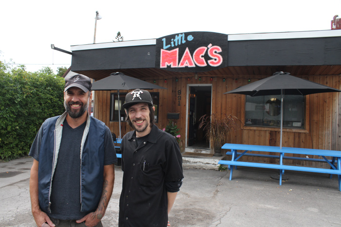 Little Mac's owner Jon Reilly-Roe (L) and chef Travis Johnston say the diner has had a lot of summer success and that they'll be doing deliveries in the winter. Photo by Jacob Hoytema