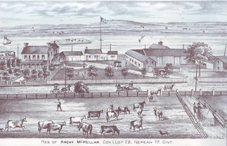 Drawing from 1879 when it was the McKellar farm (Amazing detail here.)