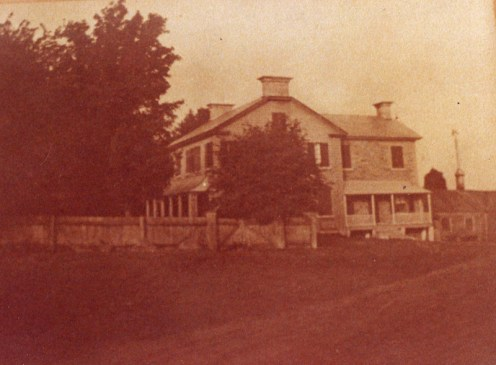 Side view of the McKellar family house circa 1895.
