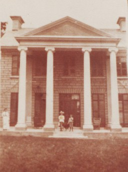 Photo from 1910, just after Bingham acquired it and added the pillars.