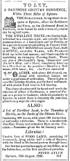 From the Bytown Gazette in 1837