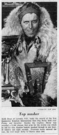 Portrait of a winning musher, published in the Ottawa Citizen on Monday Feb. 18, 1963.