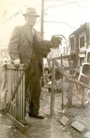 Arthur Showler and his backyard coop.