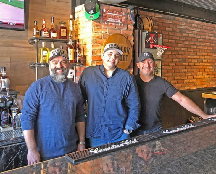 Rod Castro Vinny Cuccaro and Rani Aramoui of Pubblico Eatery. A grand opening event is planned for April 11. Photo by Paula Roy