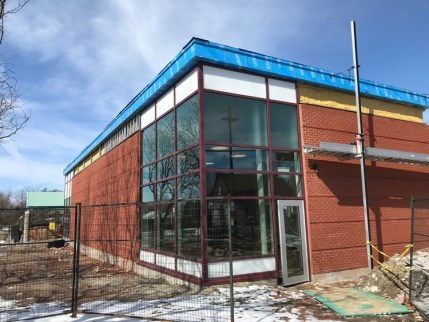 Exterior view of the new Morris Home Team room at Dovercourt. Photo by Andrea Tomkins