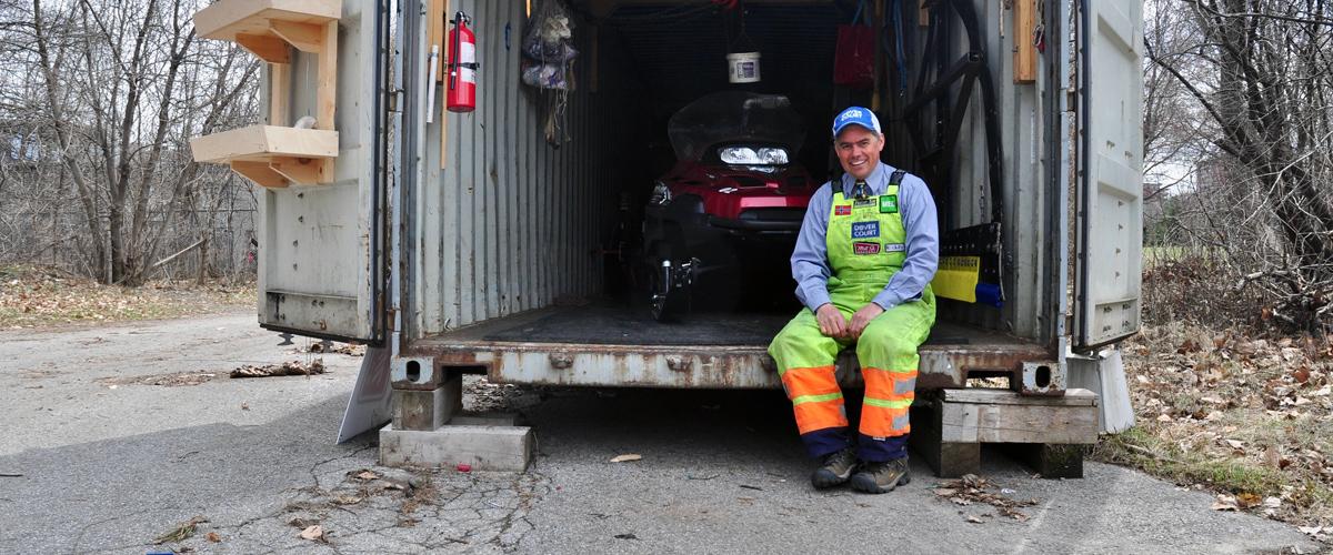 Dave Adams, Head Groomer, SJAM Winter Trail, Ottawa