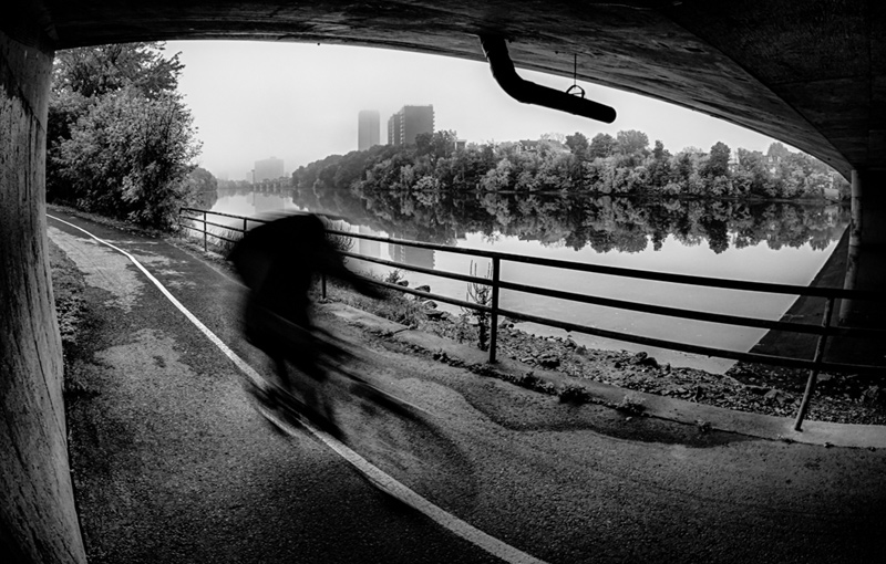 """""""Cyclist zooming"""" by Steve Chapeau"""