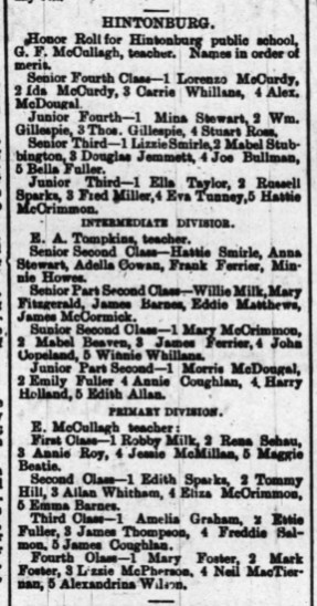 Clipping from The Ottawa Journal dated Thursday June 6, 1889.