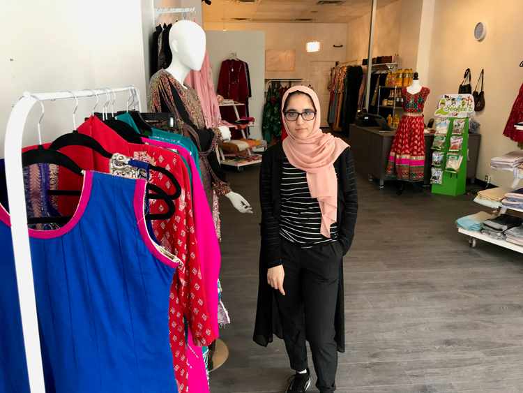 Barlian Roshan, who runs Saaj and Sanaa with her husband Delasah, says she was frustrated by a lack of dress options. Her new shop is located at 1107 Wellington St. W. Photo by Andrea Tomkins