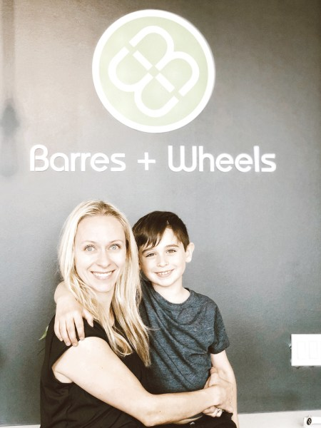 It's all in the family at Barres and Wheels. Marie Boivin's son Leo is her right hand man. Her daughter Florence is a spin instructor and her other daughter, Mégane, teaches barre.