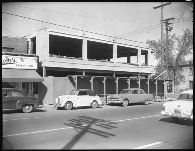 Laura Secord/World of Maps building under construction (City of Ottawa Archives)