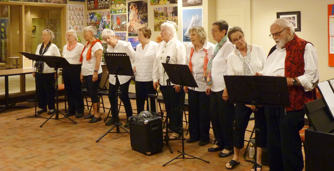 Members of the Sunset Singers.
