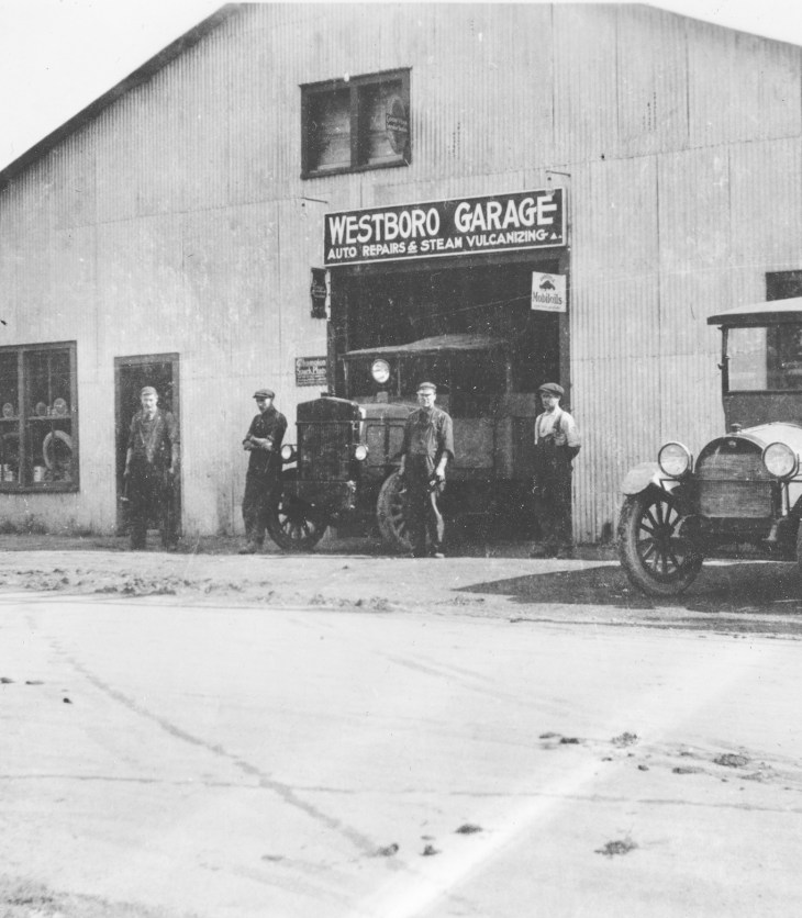 This 1920s era photo of the Westboro Garage inspired this month's column. 